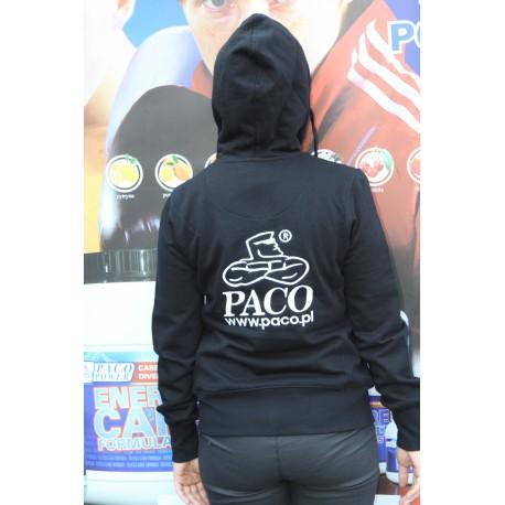 Bluza Paco Z Kapturem Rozpinana Czarna.