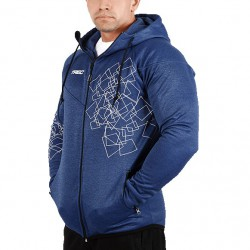 TREC WEAR Men's- ZIP 003 - HOODIE/NAVY-MELANGE
