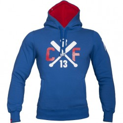 TREC WEAR mEN'S - WHITE LOGO CROSS - HOODIE 004/BLUE