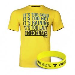 TREC WEAR MEN'S - NO EXCUSES - T-SHIRT 033/LEMON