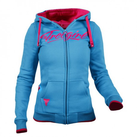 TREC WEAR WOMEN'S- TRECGIRL - HOODIE ZIP 007/SEA BLUE