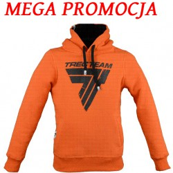 "TREC WEAR Men's- BLACK LOGO ""T"" - HOODIE 021/ORANGE"