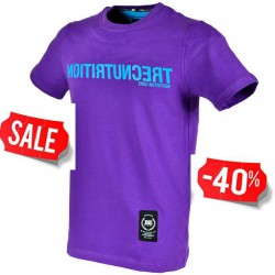 "TREC WEAR MEN'S - REVERSED BLUE LOGO ""TN"" - T-SHIRT 017/PURPLE"