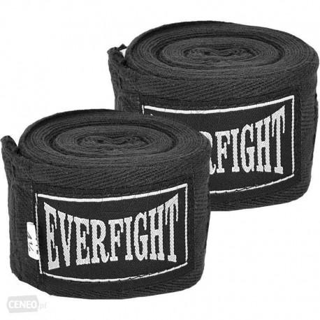 Everfight Bandaże bokserskie Bawełna 3,0m BLACK