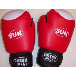 Green Hill rękawice bokserskie SUN 12 - czerwone
