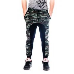 Mordex spodnie sportowe- dresowe ze ściągaczem ( niebieskie)