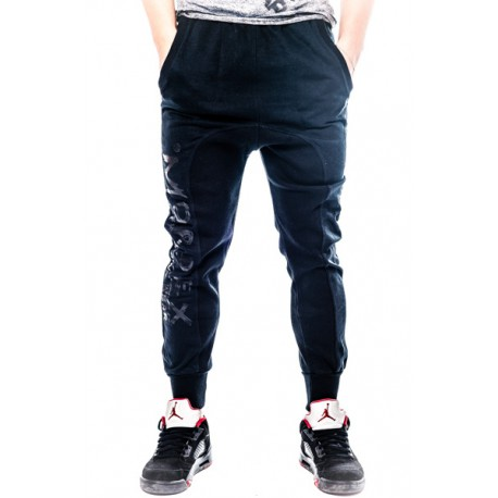 Mordex spodnie sportowe- dresowe ze ściągaczem ( czarnei)