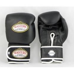 MASTERS Rękawice bokserskie skórzane RBT-PRO black