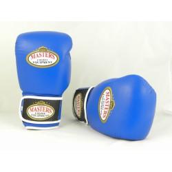 MASTERS Rękawice bokserskie skórzane RBT-PRO blue