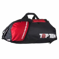 TOP TEN Torba sportowa z funkcją plecaka 70 x 35 cm TOR-P 2 czarno-czerwona