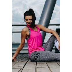 Mordex Koszulka Fitness bokserka różowa i czarna