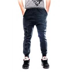 Mordex spodnie sportowe- dresowe ze ściągaczem (granatowe)