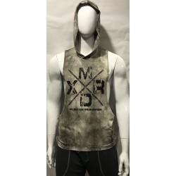 Mordex Koszulka funkcyjna z kapturem (odcienie beżu)