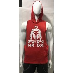 Mordex Koszulka funkcyjna z kapturem czerwona
