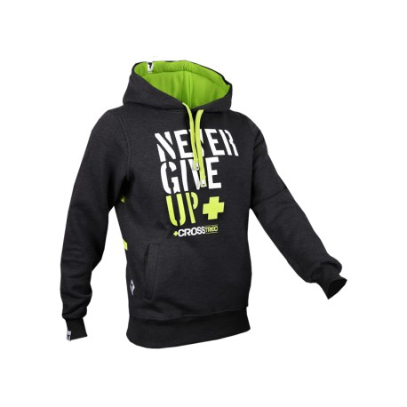 Trec Wear HOODIE 033 - NEVER GIVE UP - GRAPHITE