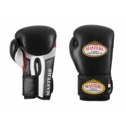 Masters Rękawice bokserskie RBT-11 czarno-białe 12 oz.