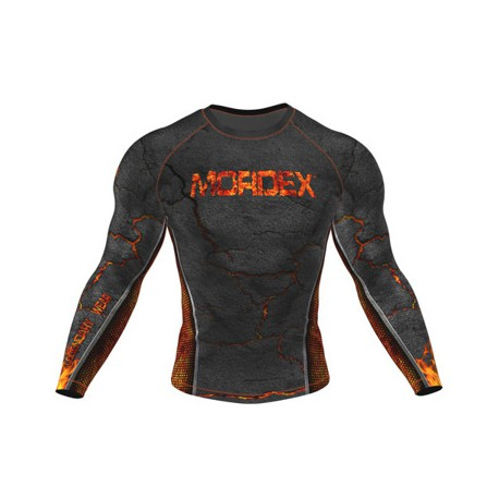 MORDEX Koszulka-bluza dł. rękaw lawa