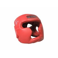 MASTERS Kask bokserski sparingowy MASTERS - KSS-4BP-czerwony