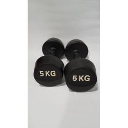 Bauer Fitness hantle gumowane 5 kg