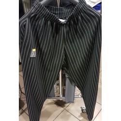 Mordex Spodnie długie prążki szaro-białe