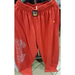 Mordex Spodnie czerwone -wzór ze sztangielką