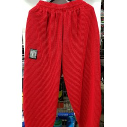Mordex Spodnie Długie Treningowe czerwone ( czarne prążki )