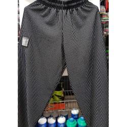 Mordex Spodnie Długie Treningowe czarne  ( jasno szare prążki )