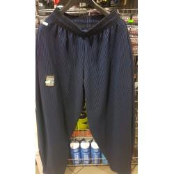 Mordex Spodnie Długie Treningowe czarne ( niebieskie prążki )